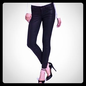 Joie Black Coated Mid Rise Jeans